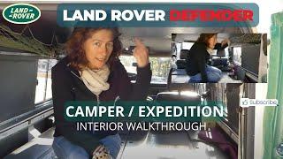 Land Rover Defender 110 Overland/Camper Interior