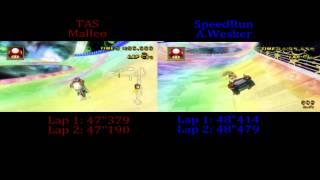 Rainbow Road - TAS VS SpeedRun