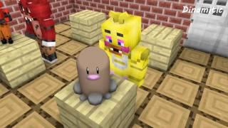 getlinkyoutube.com-FNAF vs Mobs: Build Battle Create Pokemon Challenge - Monster School (Five Nights At Freddy's)