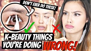getlinkyoutube.com-Korean Beauty Things You're Doing WRONG! DON'T EVER DO THESE!