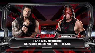 getlinkyoutube.com-WWE 2K15- Roman Reigns vs Kane Last Man Standing Match 2015 (PS4)