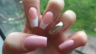 getlinkyoutube.com-Acrylic Nails   Application   Filing   Pink And White   Cjp