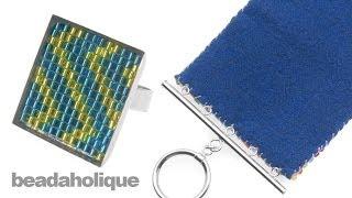 getlinkyoutube.com-How to Finish and Back Bead Loom Weaving