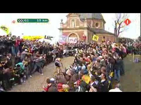 Fabian Cancellara attack on Tour of Flanders 2010