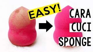 getlinkyoutube.com-Cara Membersihkan Sponge / Beauty Blender | How to Clean Beauty Sponges | Kiara Leswara
