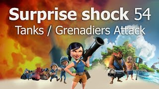 getlinkyoutube.com-How to Attack Surprise Shock Level 54 | Boom Beach | Tanks