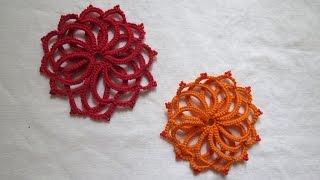 getlinkyoutube.com-Needle tatting Flower