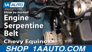 getlinkyoutube.com-How To Install Replace Engine Serpentine Belt Chevy Equinox 3.4L 05-09 1AAuto.com