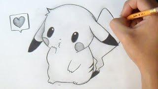 getlinkyoutube.com-Cómo dibujar Chibi Pikachu | How to Draw Chibi - Pikachu Anime