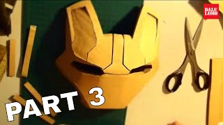 #29: Iron Man Mark 42 Helmet Part 3 - Faceplate (cardboard, long video) | How To