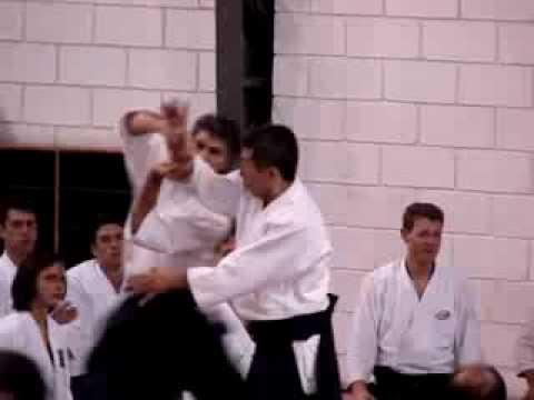 Seki Sensei  em ação em 2007 - União Sul Americana de Aikido