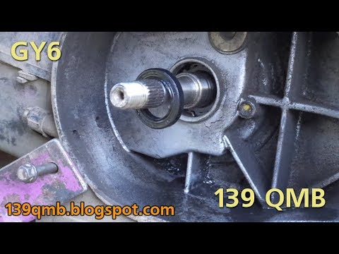 Замена левого сальника коленвала 139qmb How-to Replace left oil seal GY6