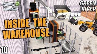 INSIDE THE WAREHOUSE | Farming Simulator 17 | GreenRiver - Episode 10