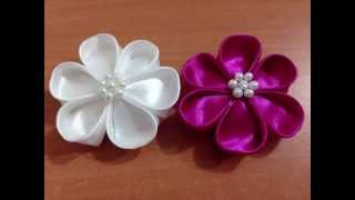 getlinkyoutube.com-DIY Kreasi Bunga Dari Pita Satin - How to make a satin ribbon flower
