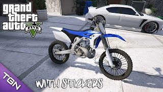 getlinkyoutube.com-GTA V - Yamaha YZ 250 with Stickers (Download) Update*