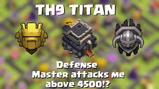 getlinkyoutube.com-Clash of Clans | TH9 TITAN | Defense above 4500 | Matchmaking...