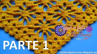 getlinkyoutube.com-chal tejido a crochet paso a paso en punto arañitas video 1