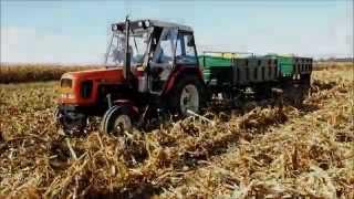 getlinkyoutube.com-WTOPA  Zetor 7211, 7011 przeciąganie przyczep z kukurydzą 2015 ENGINE SOUND