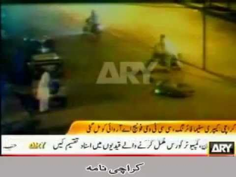 CCTV footage Karachi MQM Target Killers in Black Shirt Killing Pathans in  White Shalwarkamiz