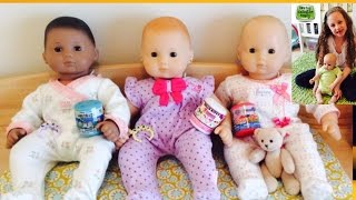 getlinkyoutube.com-Bitty Baby Dolls Open Toys | Baby Doll Prince George Sick? Feeding, Changing | Nursery Room
