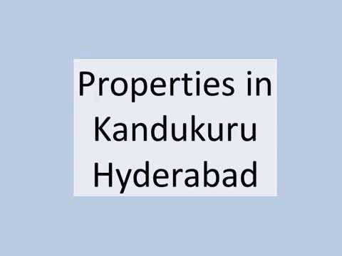 Properties in Kandukuru Hyderabad