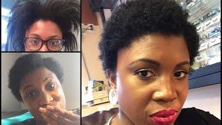 getlinkyoutube.com-Natural Hair Journey | My First Big Chop !!!!