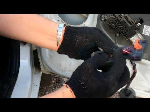 Ремонт стеклоподъёмника на Skoda Fabia. Восстановление проводки!!!