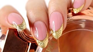 getlinkyoutube.com-♡ How to: Gold Foiled French Manicure Gelnails