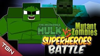 getlinkyoutube.com-HULK VS MUTANT ZOMBIE - SUPER HEROES BATTLE - Minecraft Arena