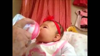 getlinkyoutube.com-Feeding Reborn baby Lillie with real sound effects.