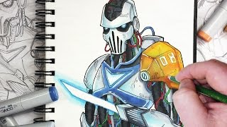 getlinkyoutube.com-Let's Draw a Sci-Fi Robot