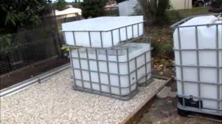 getlinkyoutube.com-Backyard Aquaponic IBC & Barrelponic construction update 2...