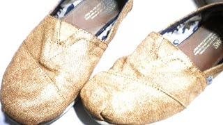 getlinkyoutube.com-DIY   Renueva tus zapatos / toms de una forma muy rápida y fácil   Renew your shoes