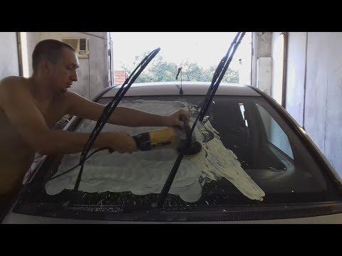 Как и чем отполировать лобовое стекло от царапин?