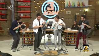 getlinkyoutube.com-3 Adam - Programda Muhteşem Darbuka Gösterisi (2.Sezon 21.Bölüm)