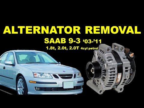 Расположение у Saab 900 ремня генератора