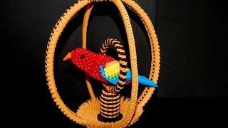 getlinkyoutube.com-How to make 3d origami parrot cage part2