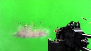 getlinkyoutube.com-Machine Gun and Grenade on a Green Screen