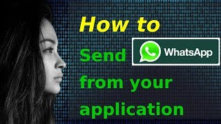 getlinkyoutube.com-Demo: Sending WhatsApp message from your application