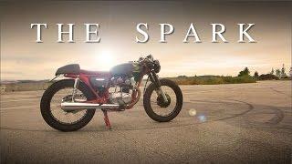 """getlinkyoutube.com-Cafe Racer (Honda CB 125 - """"The Spark"""" of 50.000 Subscribers)"""