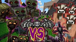 getlinkyoutube.com-ZOMBIES VS MINOTARUOS| COMBATES MINECRAFT| VON DOOM CRAFT