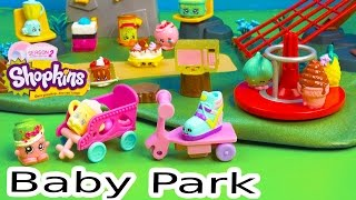 Shopkins Special Edition Fluffy Baby Playground Park Season 1 and 2 Playing Video - Cookieswirlc