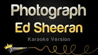 getlinkyoutube.com-Ed Sheeran - Photograph (Karaoke Version)
