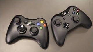 getlinkyoutube.com-Xbox One vs. Xbox 360 Controller Comparison