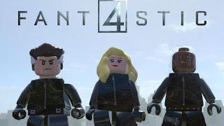 getlinkyoutube.com-Lego Marvel Superheroes Fantastic Four 2015 Movie Variant Custom Characters