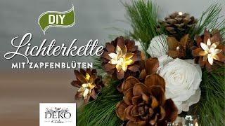 getlinkyoutube.com-DIY: weihnachtliche Lichterkette mit Kiefernzapfen [How to]   Deko Kitchen