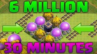 getlinkyoutube.com-Farming 6.2 Million Resources in 30 Minutes! Clash of Clans - LOOT DESTRUCTION!