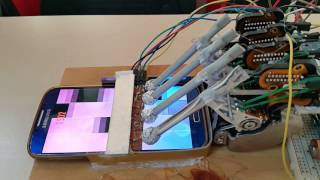 """getlinkyoutube.com-""""Piano Tiles 2"""" was played by the homemade robot."""