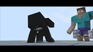 getlinkyoutube.com-CORTO ANIMADO MINECRAFT BERSGAMER VS MUTANT HEROBRINE