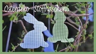 getlinkyoutube.com-DIY - Frühlingshafte Osterdeko - Hasen aus Stoff und Vlieseline